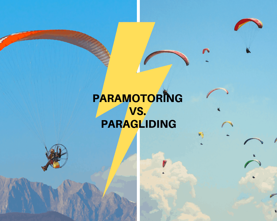 Paramotor vs Paragliding: Differences, Pictures, and Safety